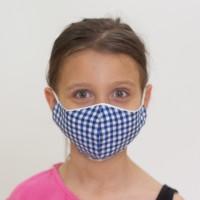 Mavi Pötikare Desenli Çocuk Maskesi