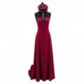 Türk / Edirne Kırmızısı Abiye Elbise